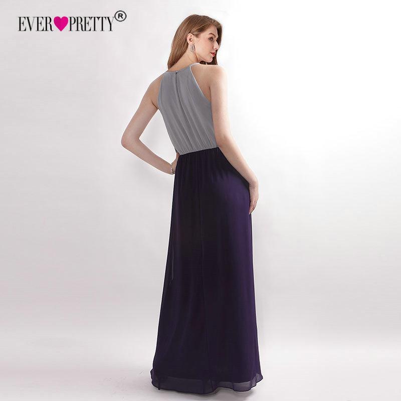 Chiffon Bridesmaid Dresses 2019 Pretty New Arrival Halter Grey A-line Sleeveless Elegant Wedding Guest Dresses T190606