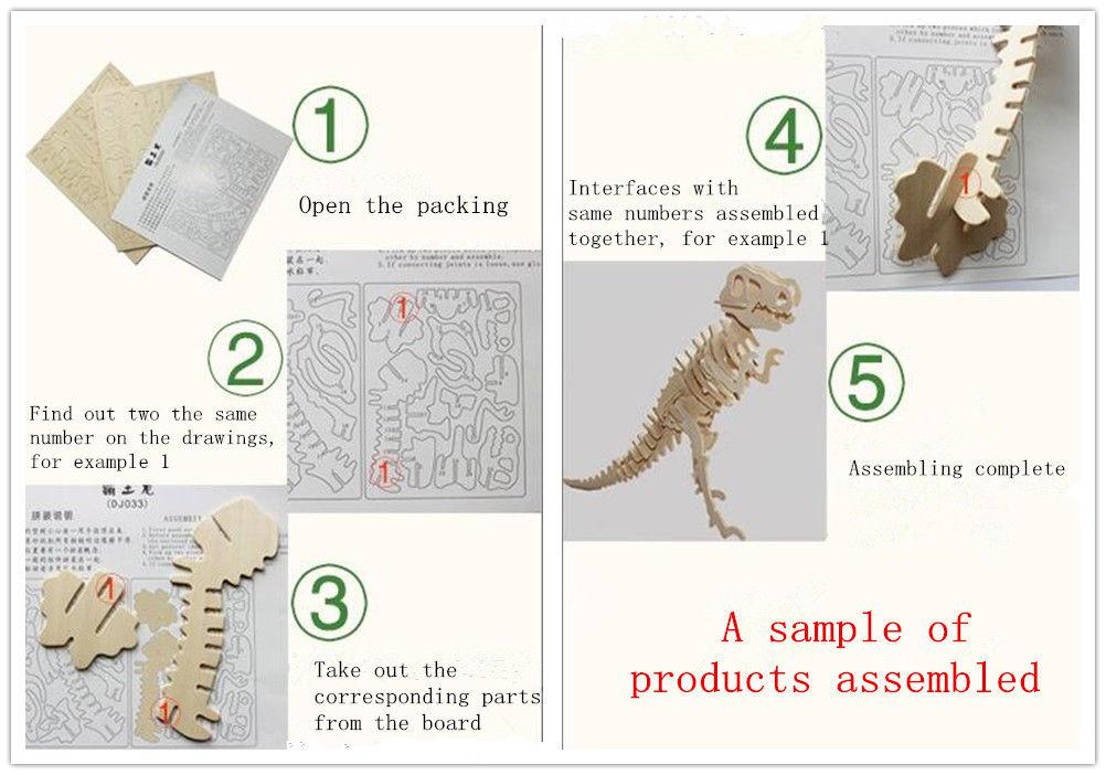Nuovo assemblaggio di legno Giocattolo educativo fai da te 3D modello in legno puzzle di maiale animali