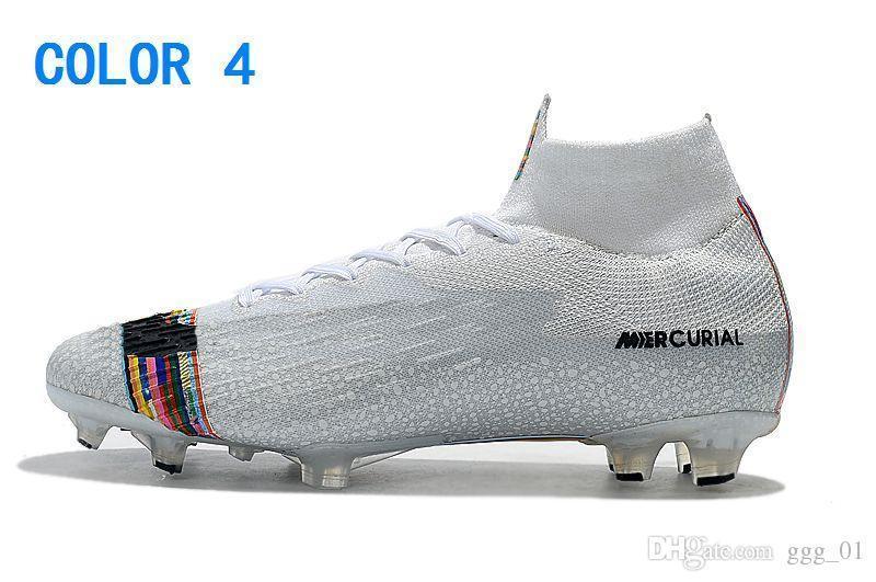 Homens 2019 Mercurial Superfly VI 360 Elite FG Chuteiras de Futebol Crianças Boy Girl CR7 Neymar FG Chuteiras de Futebol Botas de Futebol Ronaldo
