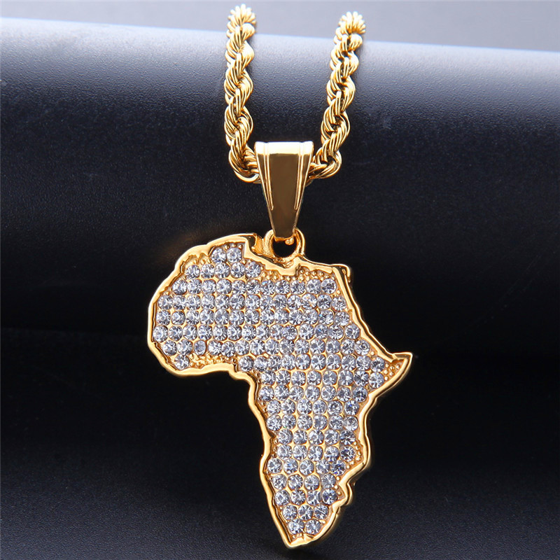 collier homme pendentif afrique