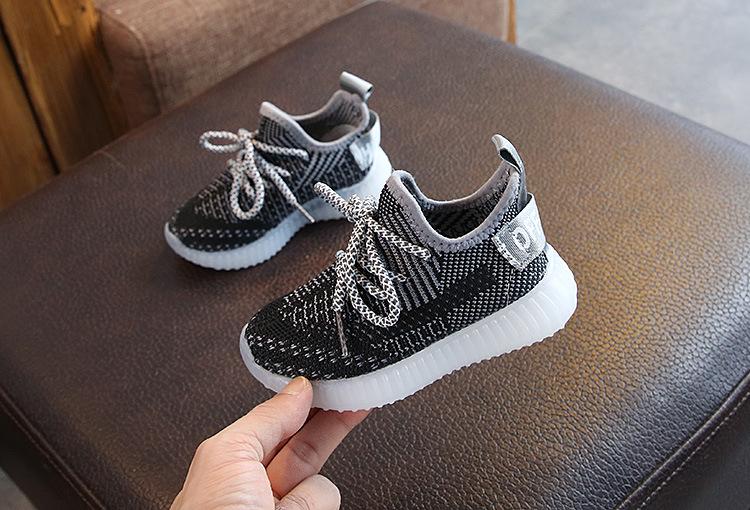 Boys Dream Seek P207 No Lace Casual Walking School Slip On Shoes BLACK Kids