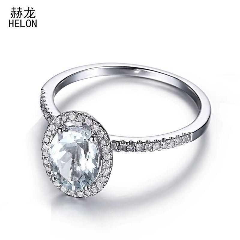 925 Sterling Silver Ring avec Bleu Aigue-marine NATUREL ROND pierres précieuses Taille 5-11