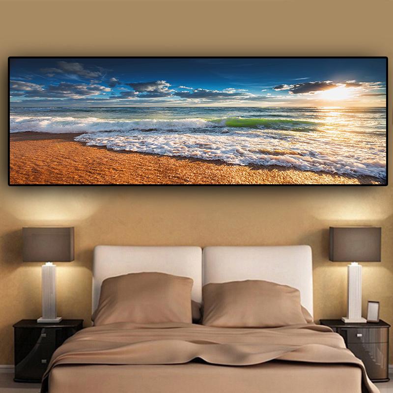 Natural Gold Beach Sunset Landscape 2