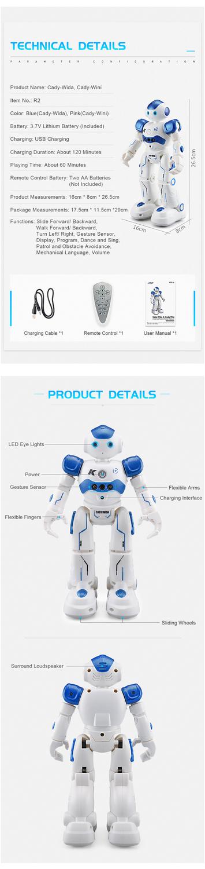 RC Robot Intelligent Programming Remote Control Robot Toy-5