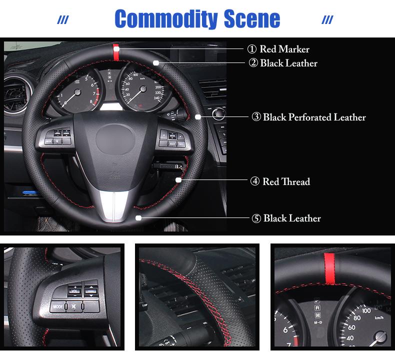for Mazda 5 steering wheel cover