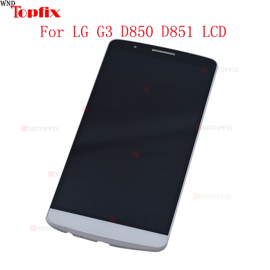 100% Tested 5.5inch LCD For LG G3 D850 D851 LCD Display Touch Screen Digitizer Assembly With Frame Pantalla Replacement Parts (1)
