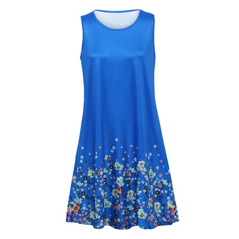 Сексуальное женское платье без рукавов с принтом Flora O шеи Платья больших размеров для женщин 4xl 5xl 6xl Карманные Свободные повседневные мини-платья дизайнерской одежды