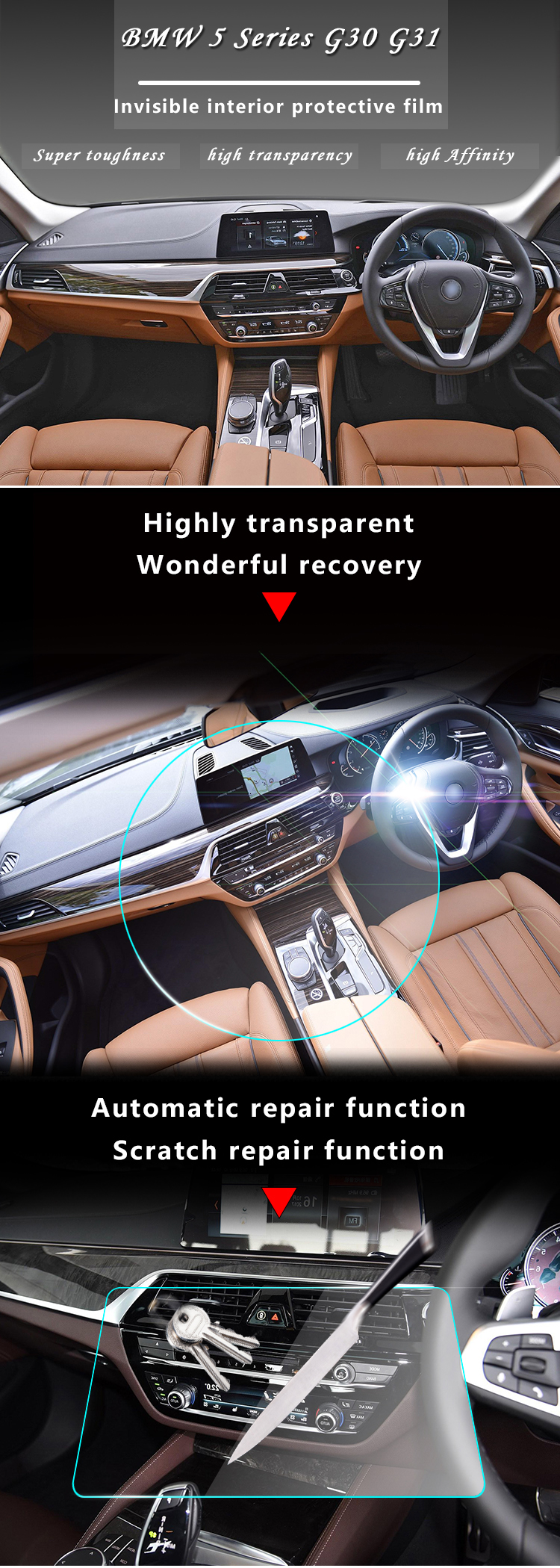 2019 Car Interior Trim Dashboard Cd Panel Clear Paint Tpu Protective Bra Film Stickers For Bmw 5 Series 525i 530i 540i G30 Rhd 2018 From Suozhi1990