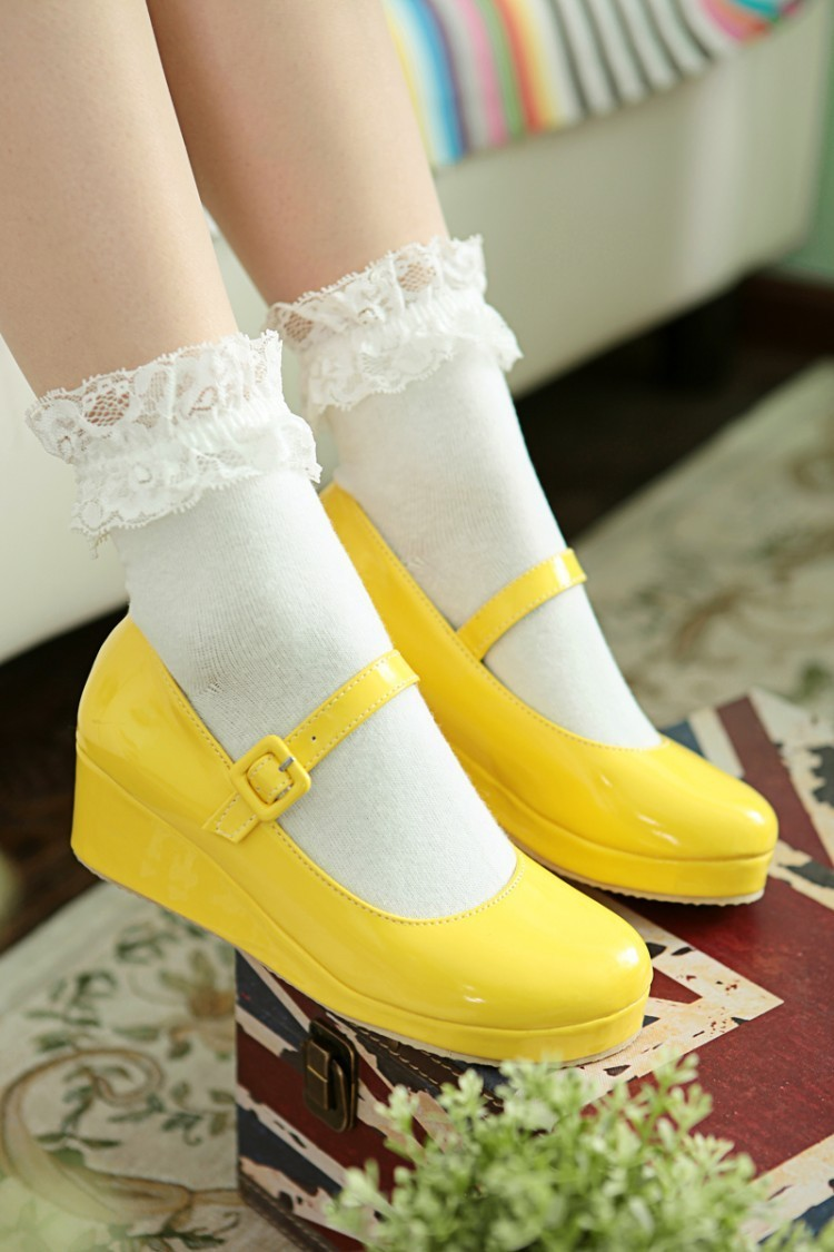 Sexy2019 Single Flange Lovely Shoe Foam Bottom Will Code Mary Jane Hasp Shallow Mouth Mill Finish Women's Shoes - 10