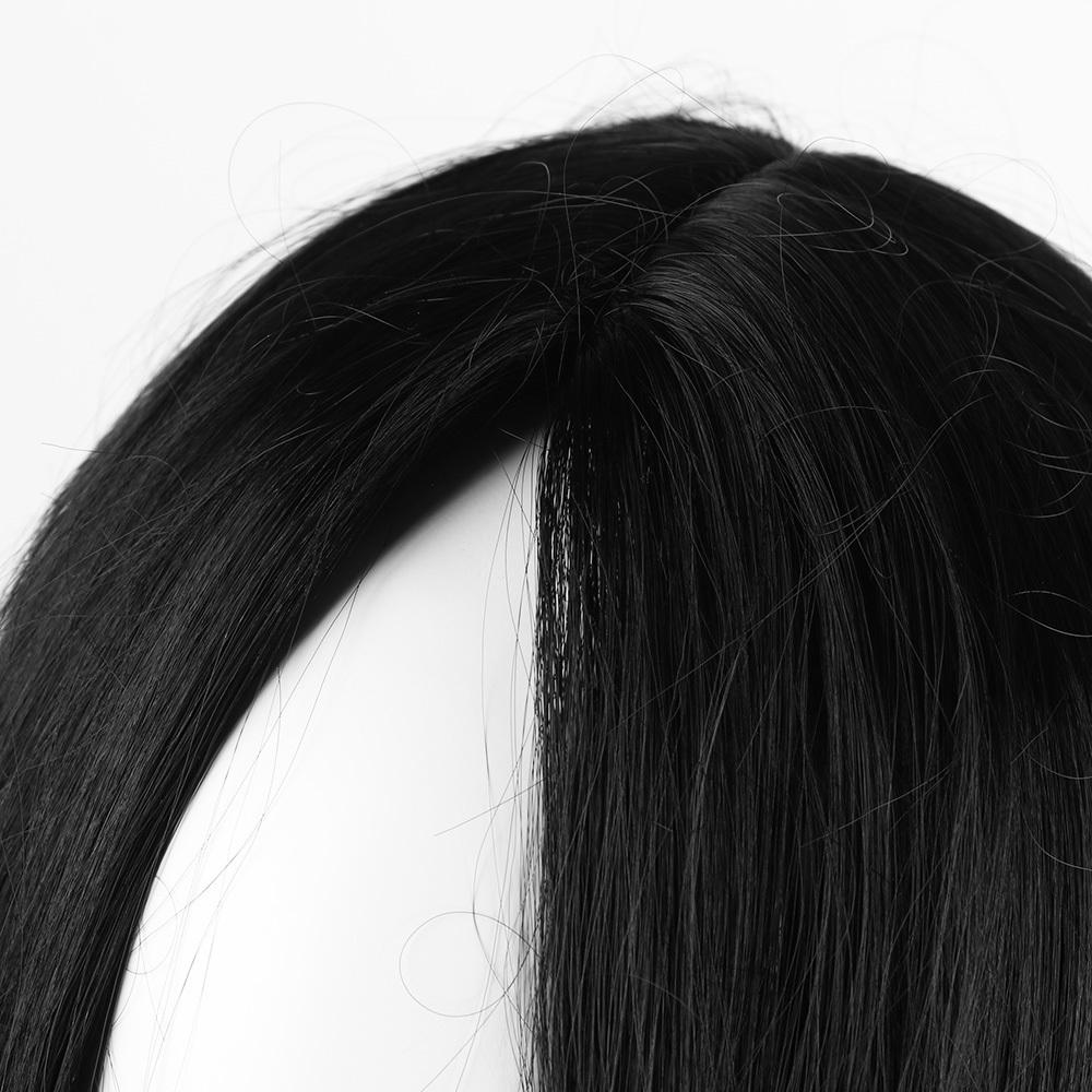 Naturel Courte Droite Bob Style Perruque De Cheveux Cosplay Épais Lisse Complète Perruque Naturel Noir Couleur Hommes Femmes Cheveux Extension Outils SH190727
