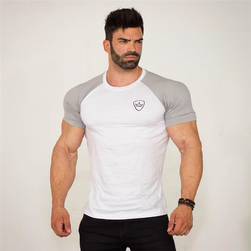 Mens Fashion Casual Short Sleeve Round Neck Slim Fit Vintage Ethnic Gym Bodybuilding Summer T Shirts Tops