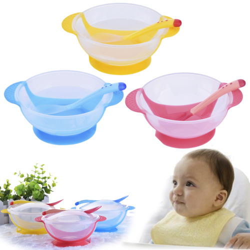 Baby Insulation Bowl Kids Tableware Feeding Bowl Non-Slip Suction Cup Bowl Hot F