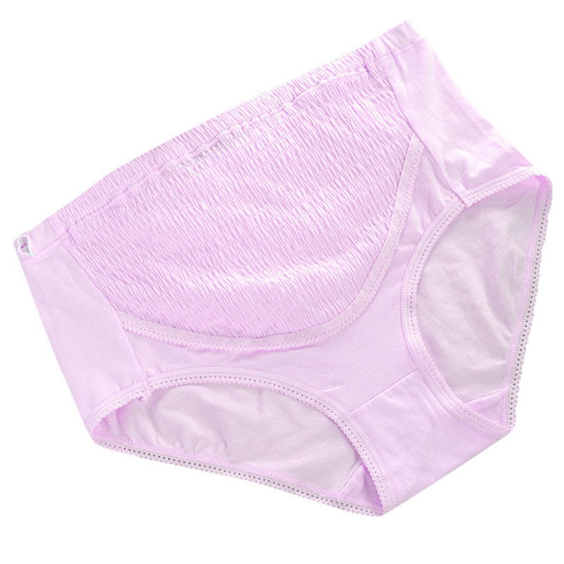 M-XXL Pregnancy Accessories Maternity Clothes Cotton Women Pregnant Solid High Waist Underwear Soft Care Underwear Clothes S20#F (5)