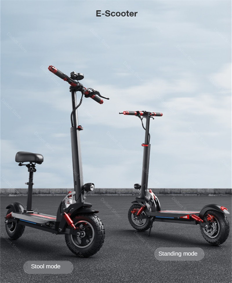 Double Drive Electric Scooter Off Road 2 Wheels Electric Scooters 10 Inch 48V 1200W 45KMH Folding Kick Scooter For Adult (11)