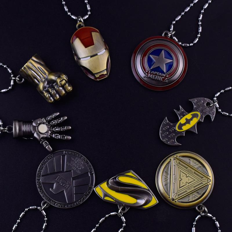AVENGERS 3 Infinity guerre Collier Captain America Shield pendnat pour Hommes Cadeau