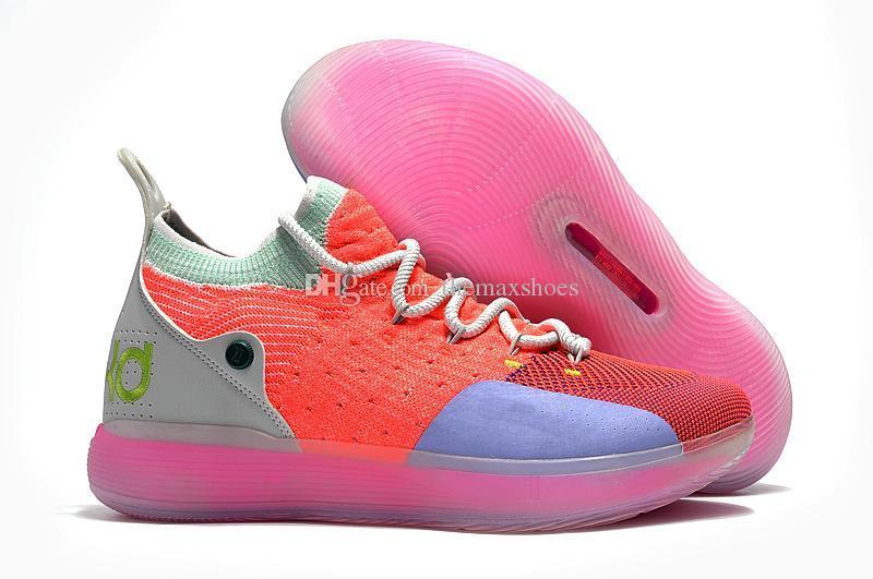 Hot Boys Kids Kevin Durant KD 11 11S Multi-Color KD11 XI Trainers Zoom Youth Girls Women Basketball Shoes Elite Mid Sport Sneakers 36-40