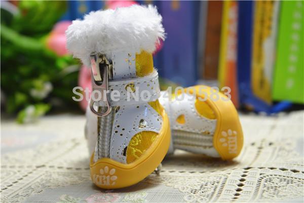 Calda qualità cane stivali rosso giallo rosa inverno cerniera scarpe da compagnia con pelliccia animale cucciolo Yorkshire chihuahua bassotto merci