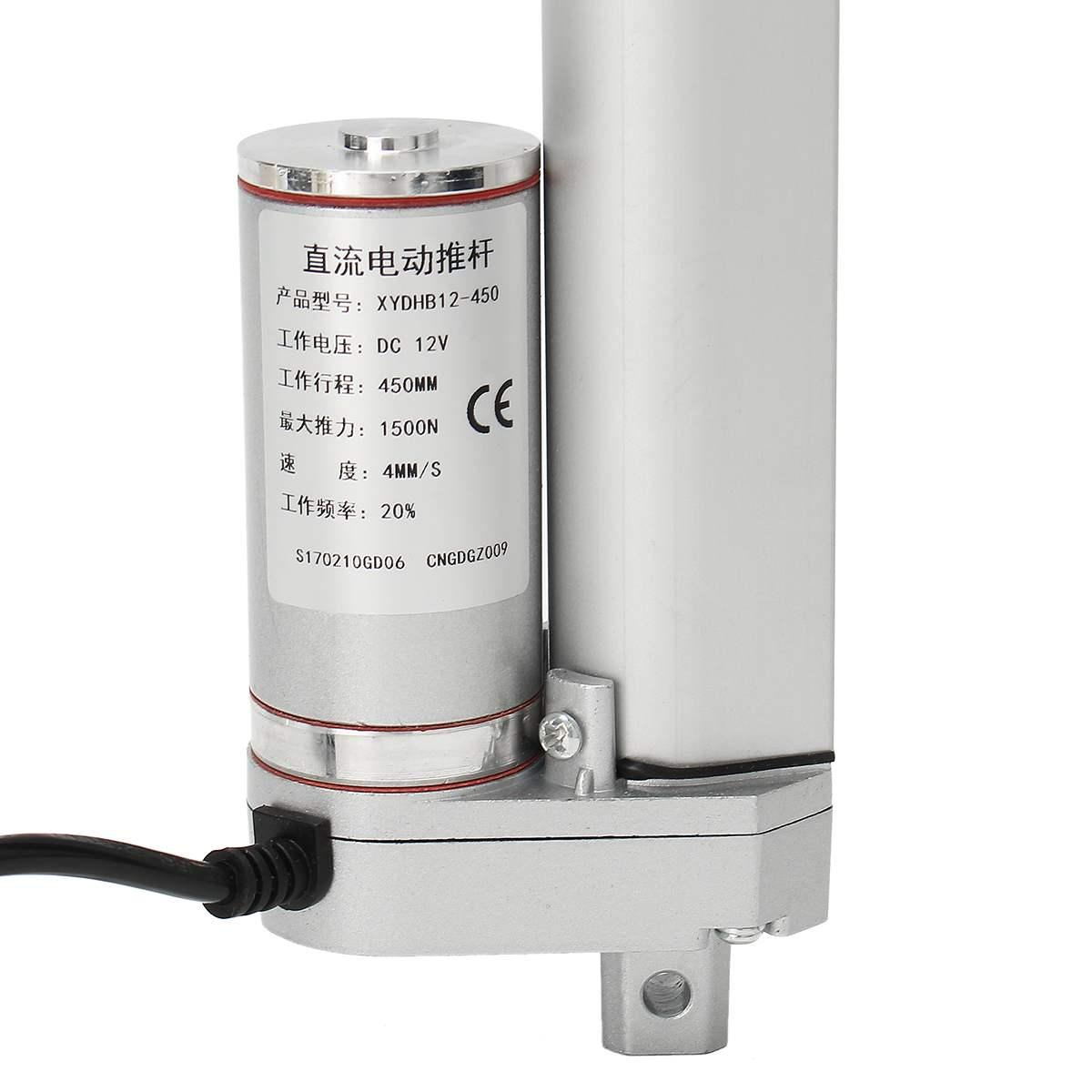 12V 500N Linear Actuator Motor 100mm Electric Door Opener For Lift Mount  NEW
