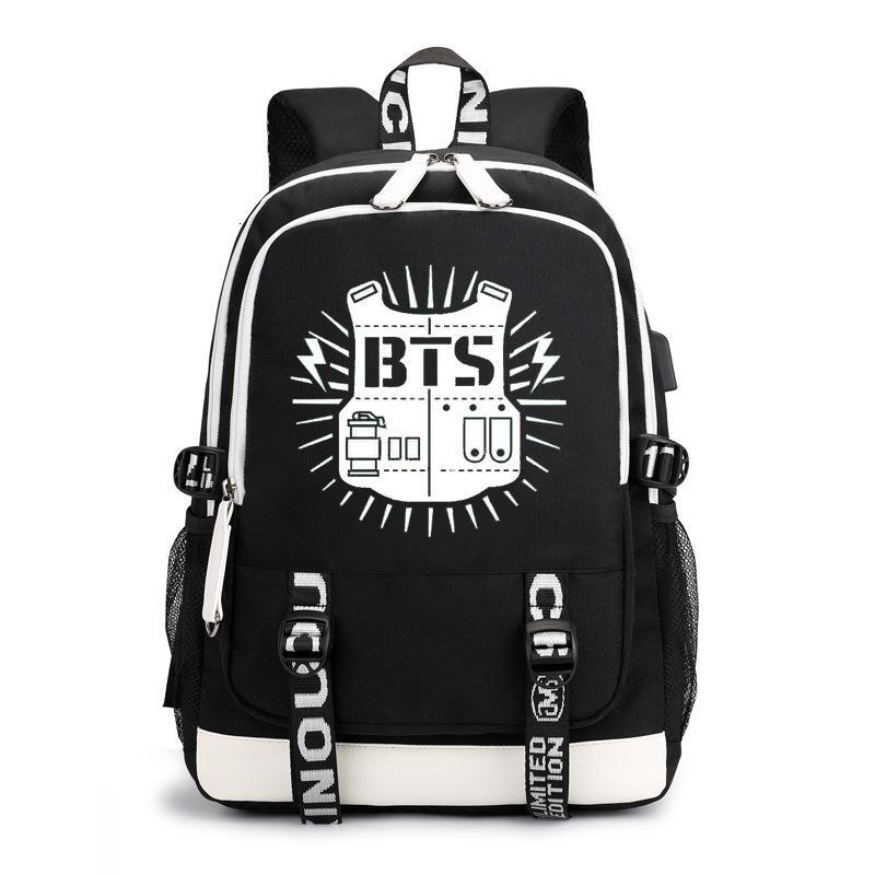 Korean Star Team Exo Backpack Laptop School Bag Outdoor Travel Bags Luminous New