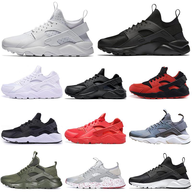 nike air huarache zapatillas deportivas 4,0 1,0 Hombres Mujeres Zapatos  triple blanco negro rojo gris para hombre Huaraches entrenadores deportivos  ...