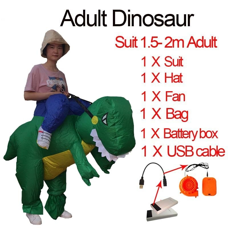 Jurassic World t rex Velociraptor Costume For Adult Cosplay Fantasy Halloween Inflatable T REX Raptor Dinosaur Costume for Women (6)