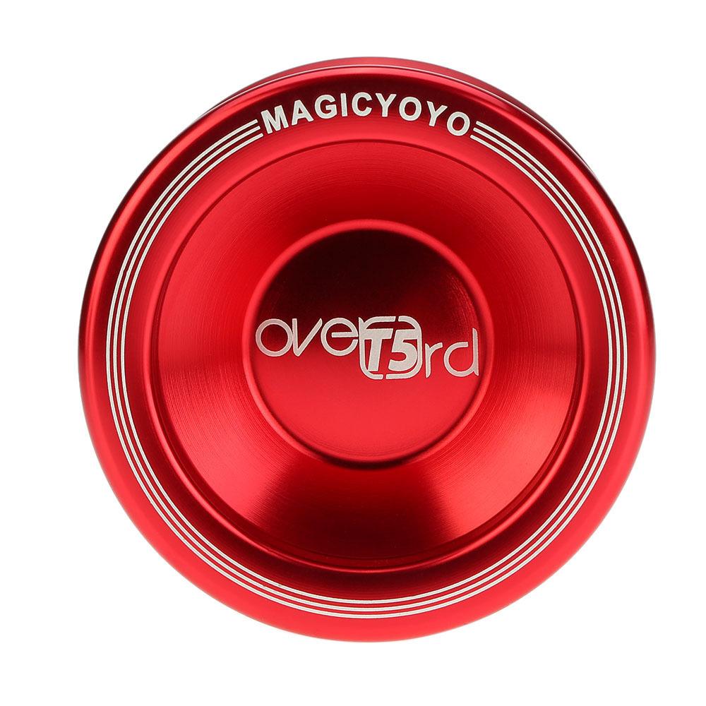 Magic Yoyo T5 Overlord Aluminum Alloy Metal Yoyo Professional 8 Ball Kk Bearing With String Kids Toys Yoyo For Gift