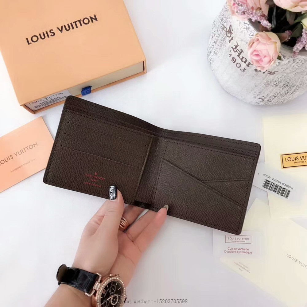 Great quality black genuine leather wallet HMT with fabric lining Fast shipping