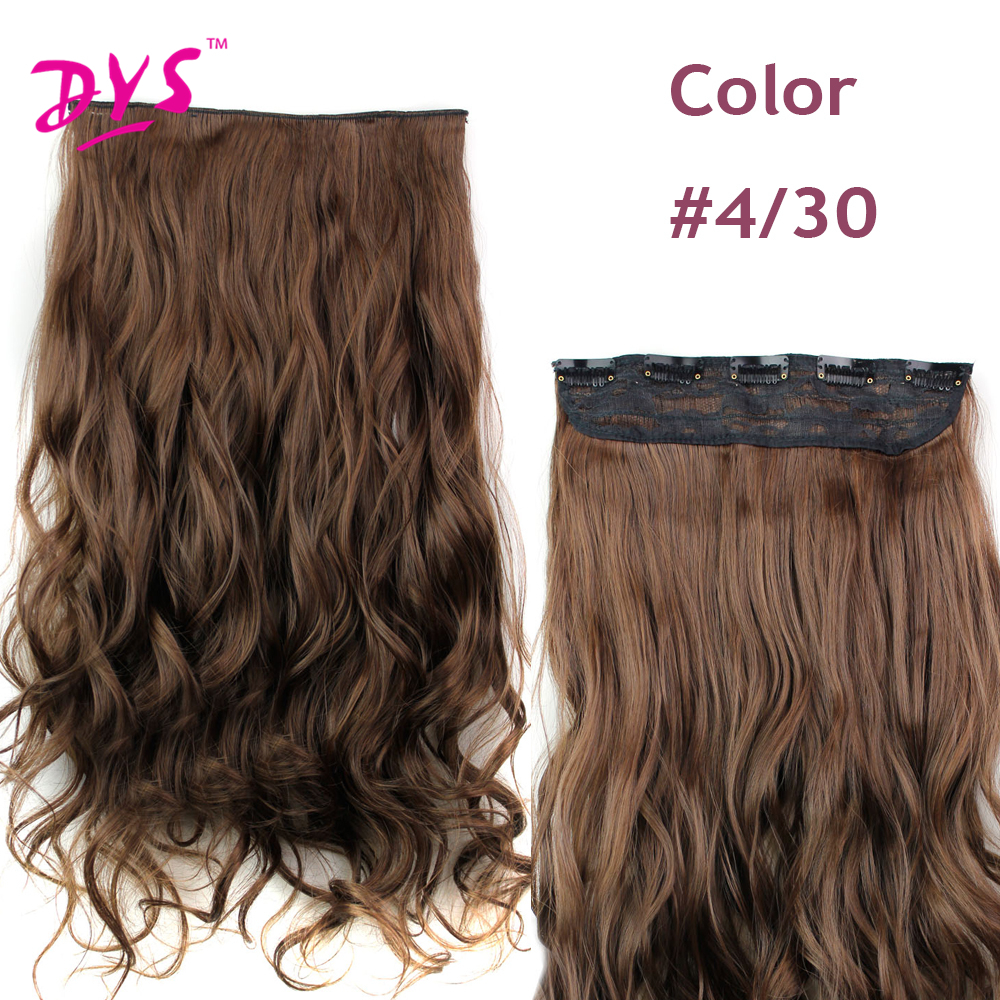 Deyngs 60CM One Piece 5 Clips in Hair Extensions For Women 34 Full Head Long Wavy16 Colors High Temperature Synthetic Fiber (12)