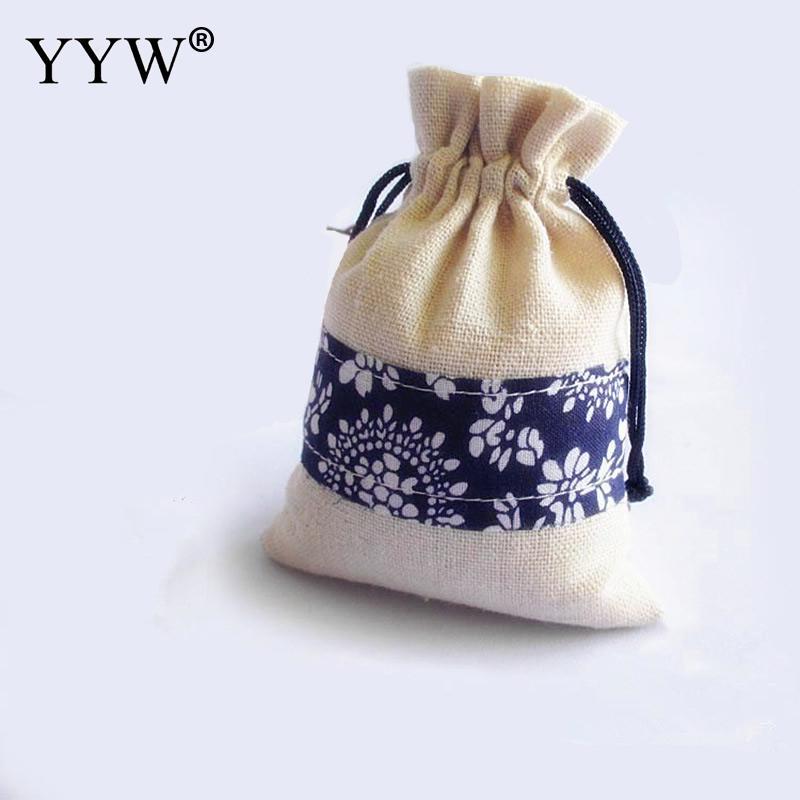 / Tasche Mode Frauen Schmuck Beutel Taschen Ganze Verkauf Baumwolle Rechteck 100x140mm Geschenk Taschen Schmuck