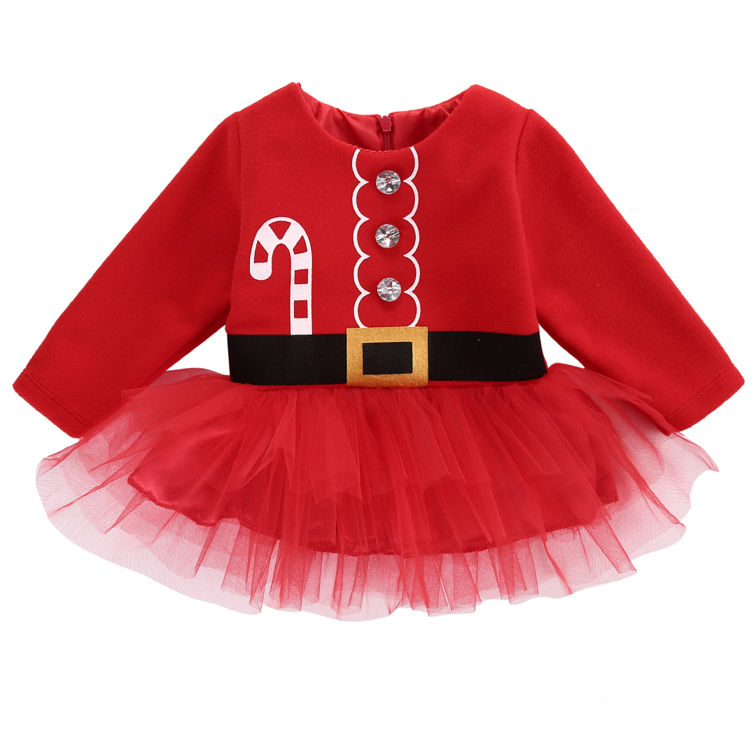 iEFiEL Baby Christmas Santa Claus Costume Romper Outfit