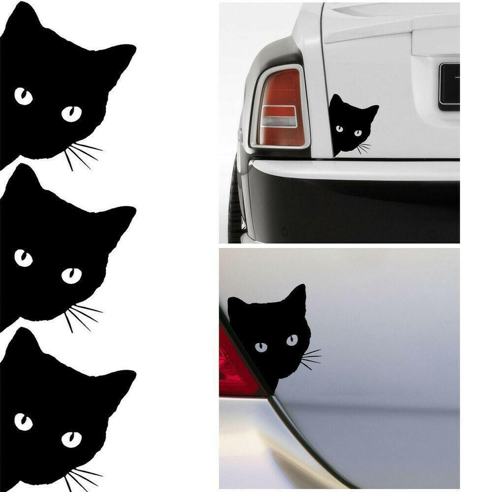Cat Face Head Funny Decal Car Laptop Truck Home Door Wall Window Vinyl Sticker
