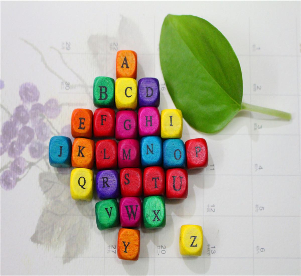 100pcs Wooden Number 0-9 Loose Beads Kindergarten Kids Math Count Game Toys