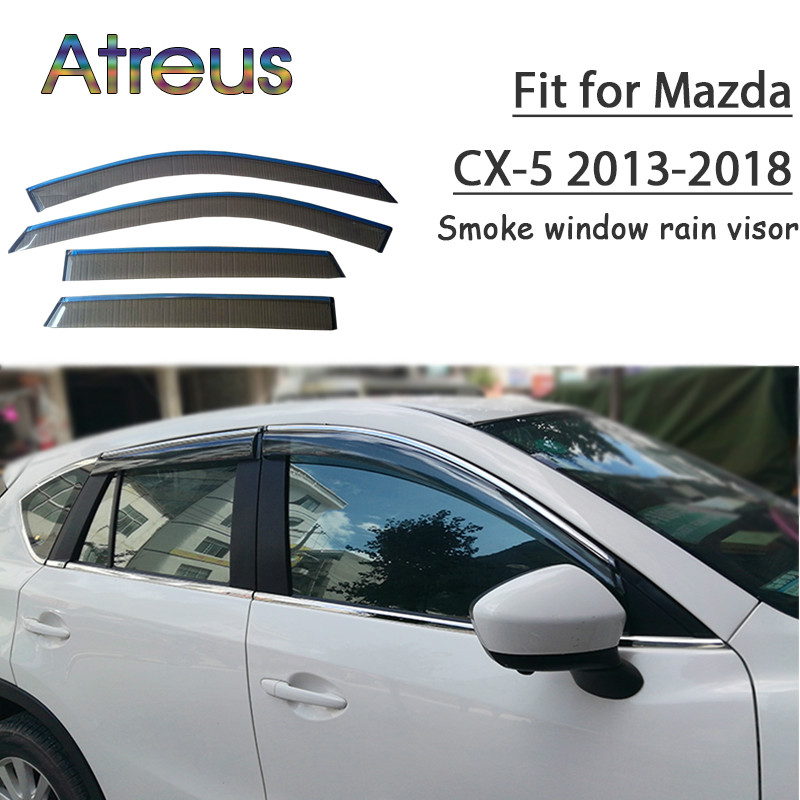 Chrom Seitentür Spiegel Regen Visier Schutz Abdeckung Für Mazda Cx-5 Cx5 17 18