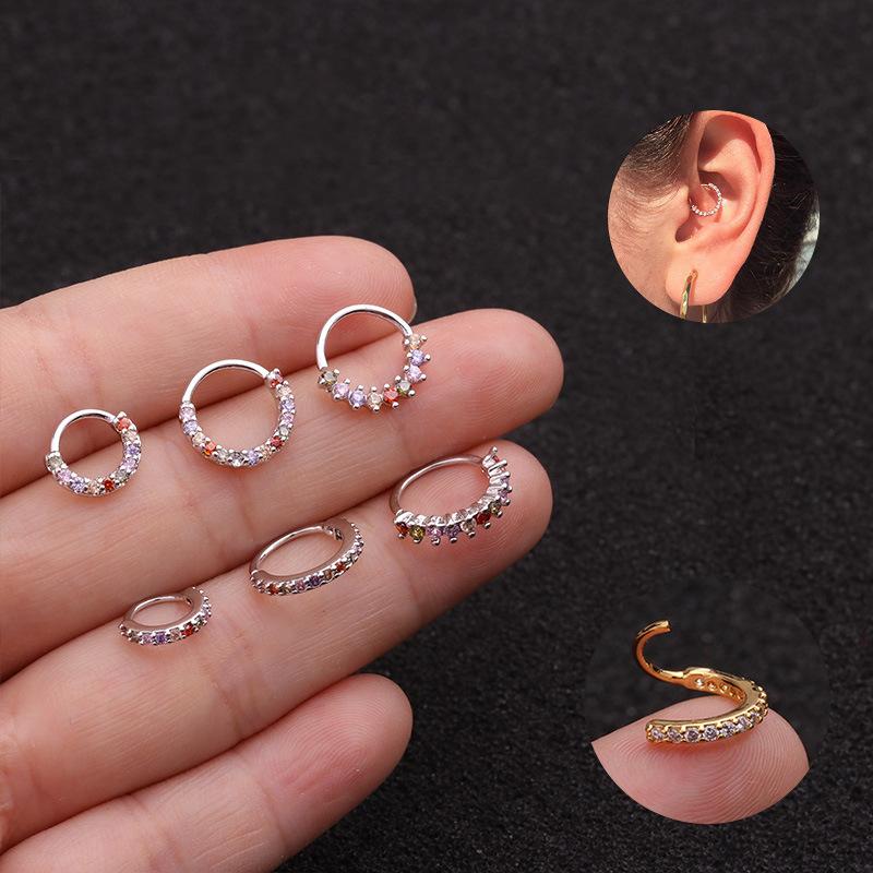 LC/_ 20PCS WOMEM/'S CLEAR PLASTIC NOSE BONE EAR STUDS RINGS BODY PIERCING RECOMM