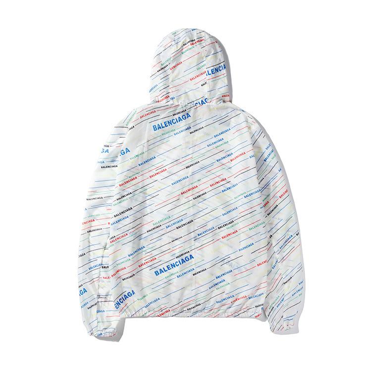 Erkek rüzgarlık yeni trend rahat ceket moda mektup hattı baskı vahşi rüzgarlık ceket