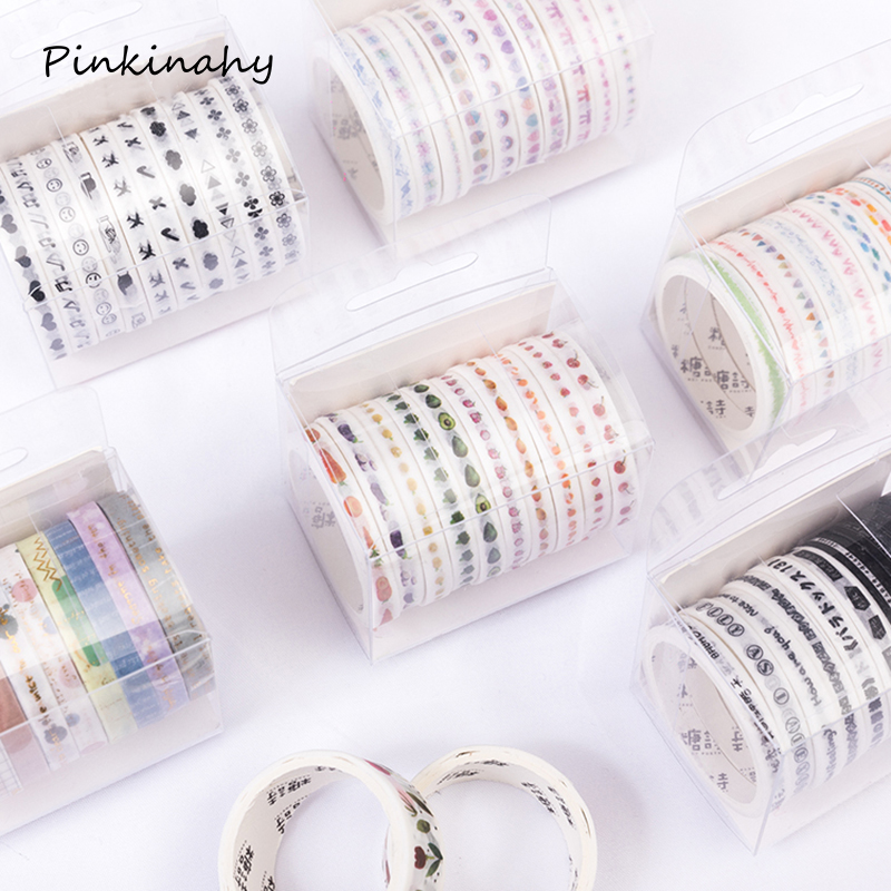 Bling Stationery Adhesive Stickers 1.5cmx3m Washi Glitter 10PCS Tape