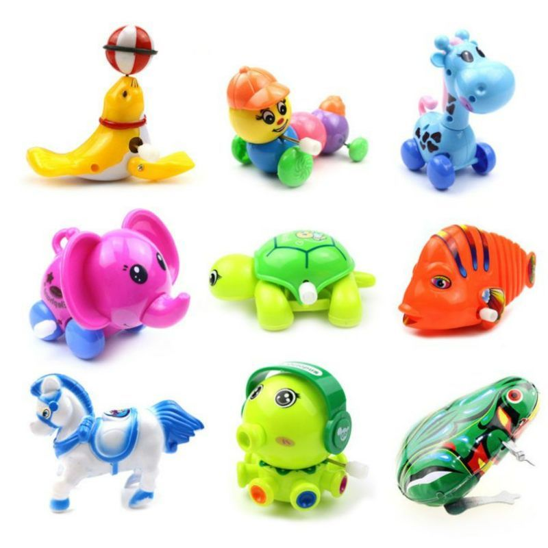 Kids Baby Colorful Tortoise Wind-up Toy Developmental Educational Toy S3