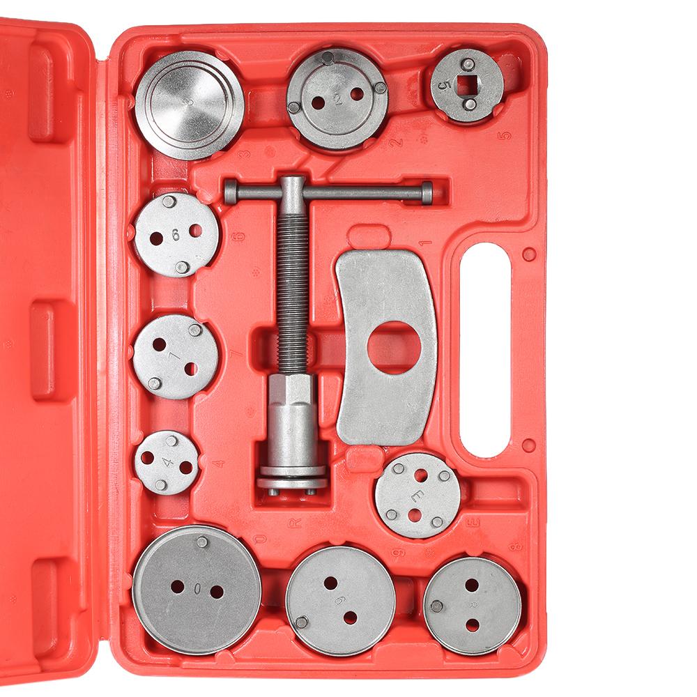 Universal Auto Disc Brake Caliper Car Wind Back Pad Piston Compressor Automobile Garage Repair Tool Kit Set with Case