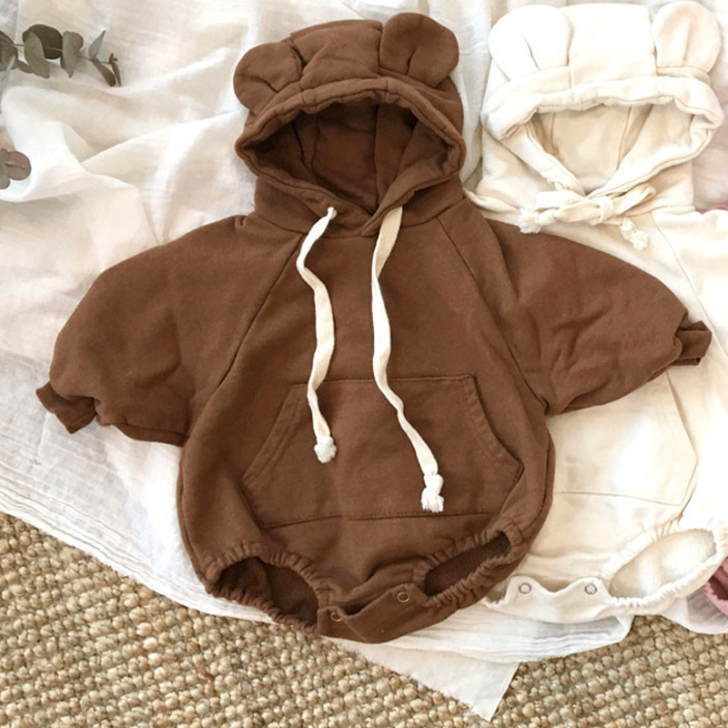 Baby Rompers Winter Boy Girls Clothes Cotton Newborn Toddler Clothes Infant Jumpsuit New Born Bear Hooded Warm Clothes One Piece