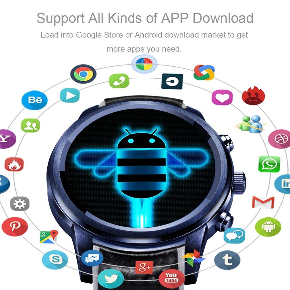Lüks Akıllı Saatler Cep Telefonu Android Sistemi Için LEM5 Pro 5.1 Akıllı İzle 2 + 16 GB Eklenti Kart GPS WiFi Smartband Saat