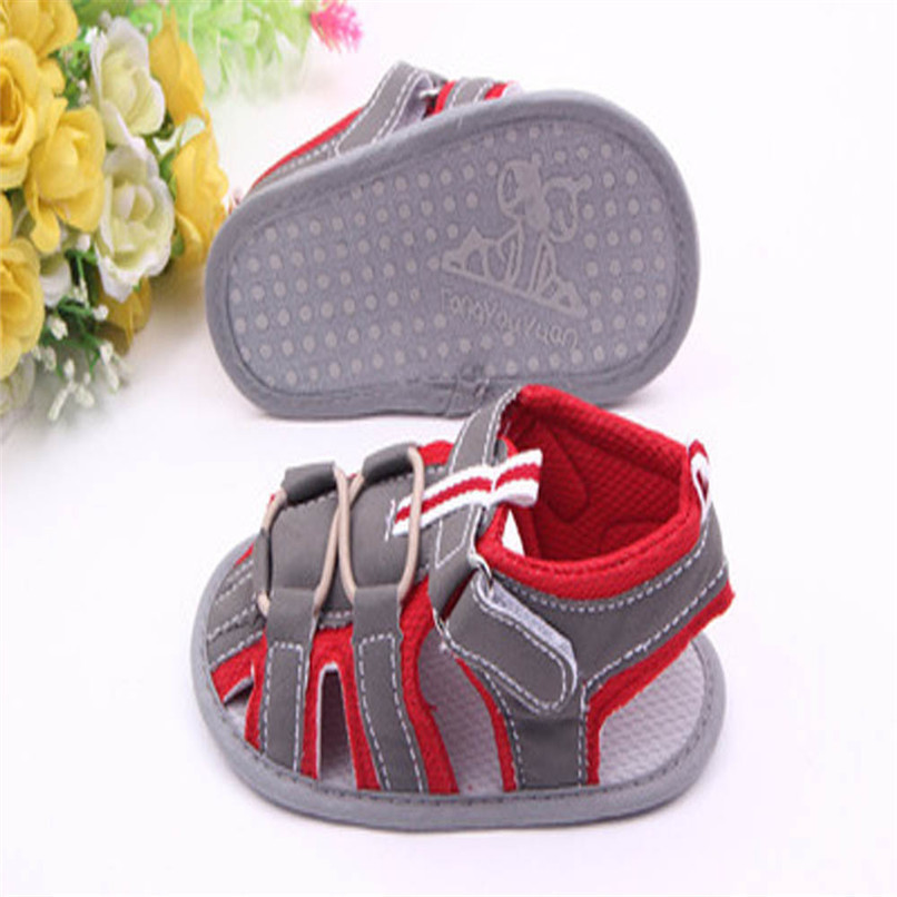 Summer Baby Shoes Fashion Newborn Toddler Infant Baby Boys Girls Color Splice Canvas Soft Sole Anti-slip Sandals Shoes M8Y16 (4)