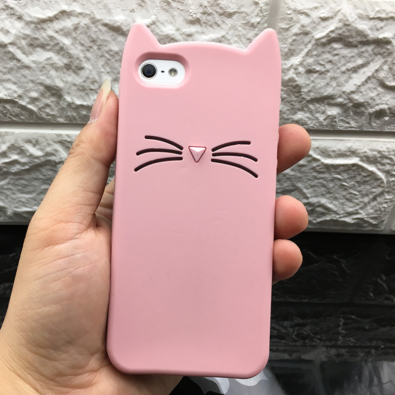5 S Case Cover For Iphone 5 5S Cute silicone 3D Glitter Soft TPU Cat Phone Cases For apple iphone 5s 5 SE Fundas Coque For Girl (14)