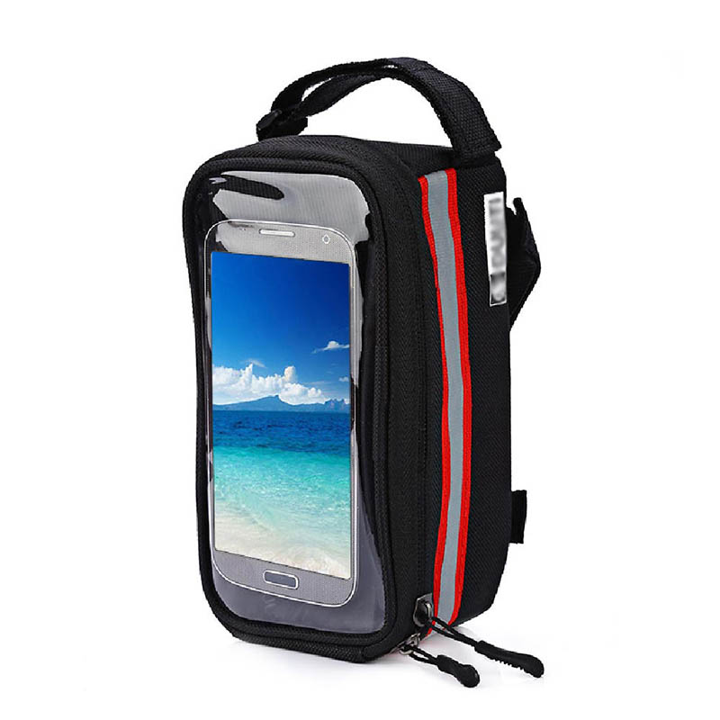 Bicycle Phone Bag Case Touch Screen Waterproof Bike Frame Front Tube Storage Bag Pouch Case for iPhone Samsung 3.5-6 inch Phones (21)