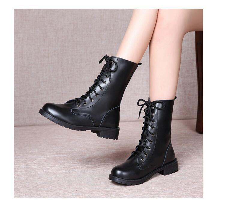 running shoes picked up wholesale dealer 2017 New Arrival Combat Military Boots Women'S Motorcycle Gothic ...