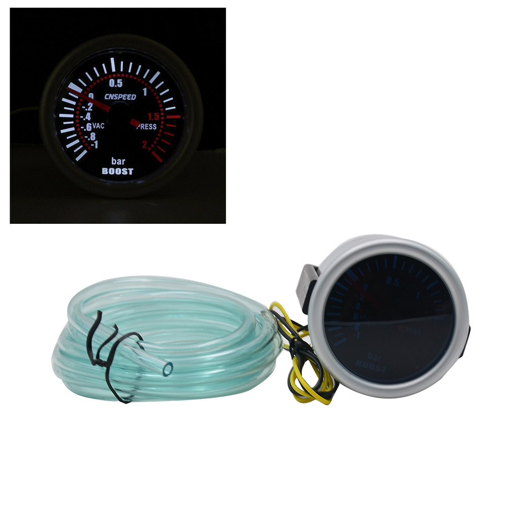 Dyno Racing2 52MM Oil Pressure Gauge Digital 0-150PSI Oil Press Gauge Blue led with Sensor Car Meter