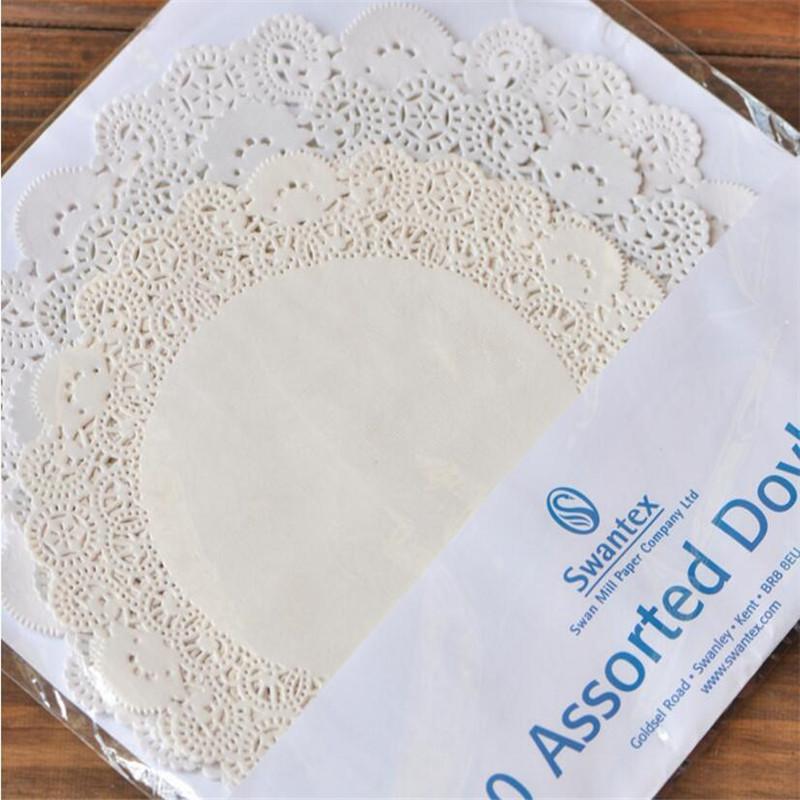 absorbentes de aceite desechables color blanco 100 blondas de papel de embalaje para reposter/ía de 11,4 cm