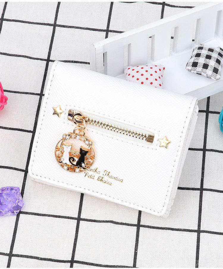 Charm2019 Pattern Goods In Stock Beautiful Girl It Is Black The White Cat 25 Anniversary Limit Edition Wallet Hand Take Package