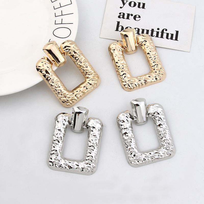 Vintage Big Geometric Square Statement Earrings For Women Earings Fashion Jewelry Modern Women's Earrings Brincos CE468