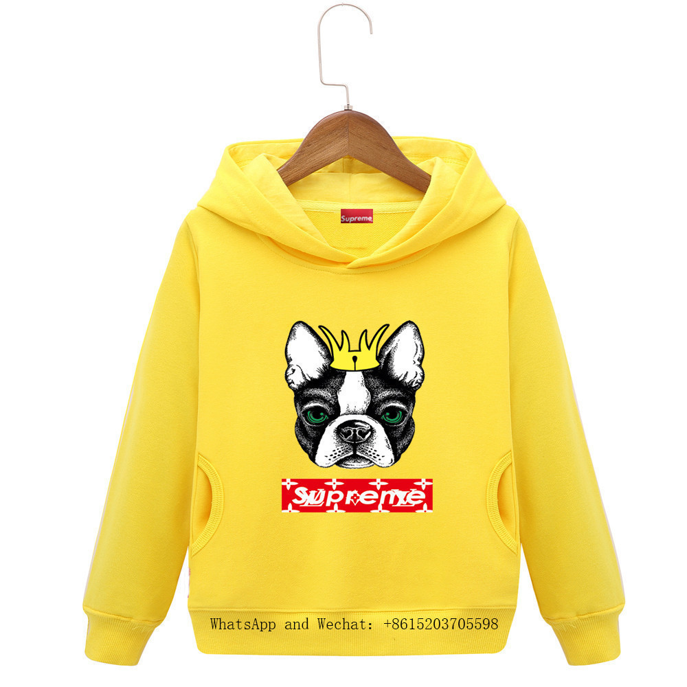 Kinderkleidung 2019 Frühlingsmode Gürtel Caps In Kinder Reine Long Sleeves Farben Cartoon Jungen Marke Hoodie Hund Kinder