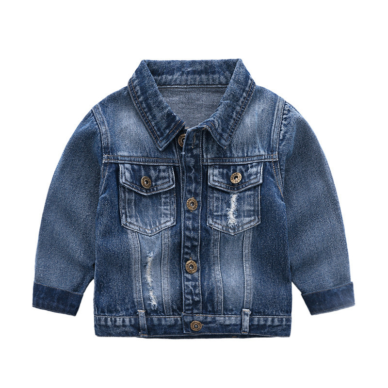 2019 Spring Autumn Outerwear Boys Jackets Children Fashion Solid Color Long Sleeve Demin Coats Kids Boys Casual Clothes For 2-7Y Boys